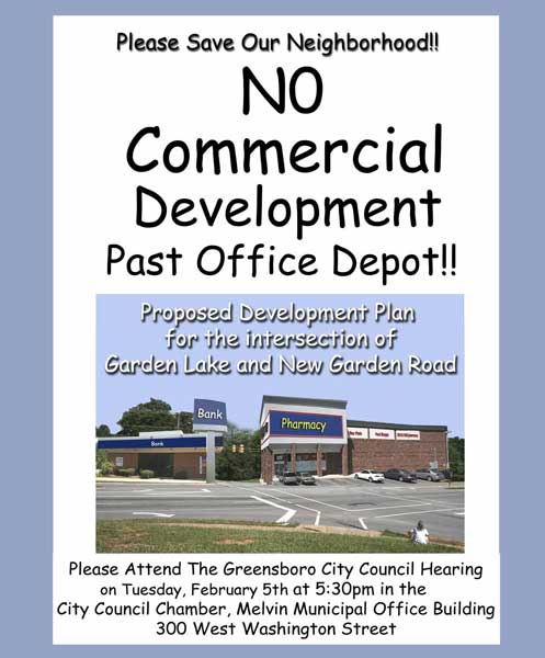 NO COMMERCIAL DEVELOPMENT