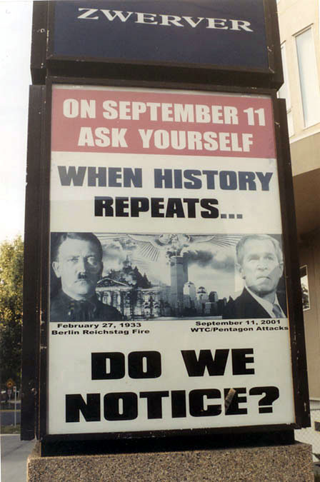What if THEY served an illegal war and Nobody cared? - On September 11 Ask Yourself: When History Repeats... Do We Notice?