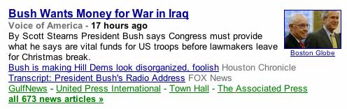 Bush wants money for ILLEGAL WAR in Iraq