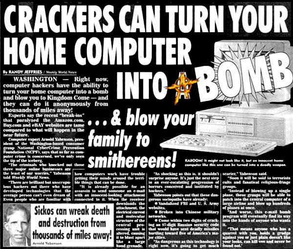 Hackers can turn your home computer into a bomb and blow your family to smithereens!