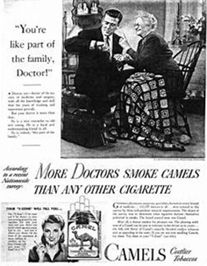You're like part of the family, Doctor! - More Doctors Smoke Camels Than Any Other Cigarette