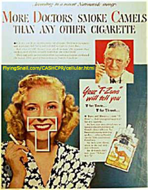 Your T Zone will tell you More Doctors Smoke Camels Than Any Other Cigarette