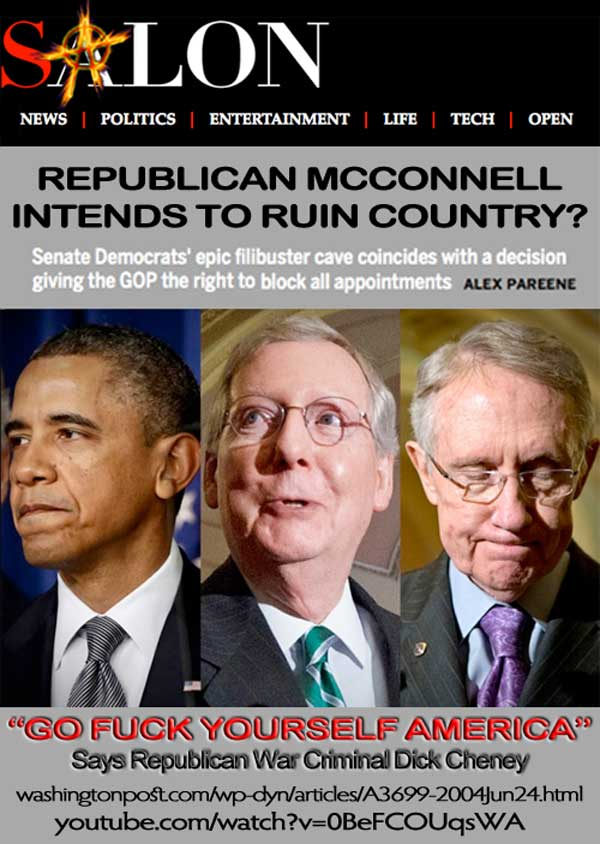 Republican McConnell Intends to Ruin Country? Open true Salon article in new tab or window