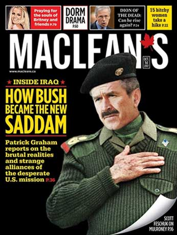 New Maclean's Magazine Cover - How Bush Became The New Saddam