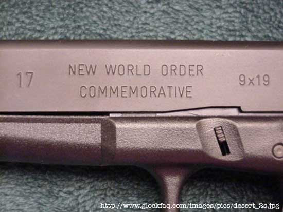 new world order commemorative pistol