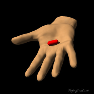 Hand offering  Red Pill