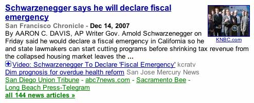 Schwarzenegger says he will declare fiscal emergency