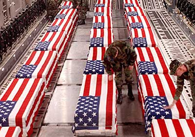 Caskets of War Dead