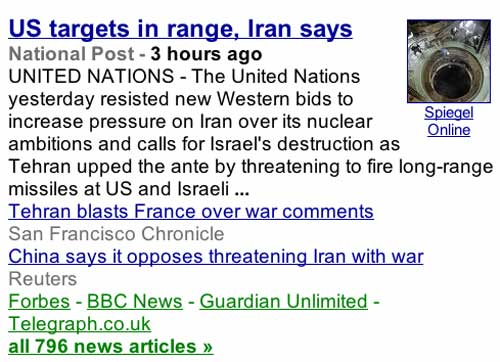 US targets in range, Iran says - and don't forget the Iraq smoking gun bull sh*t