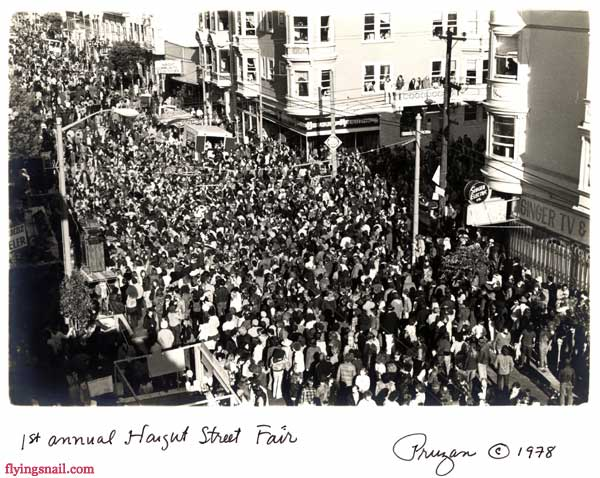 1st Annual Haight Street Fair - Photograph and in memory of Robert Pruzan