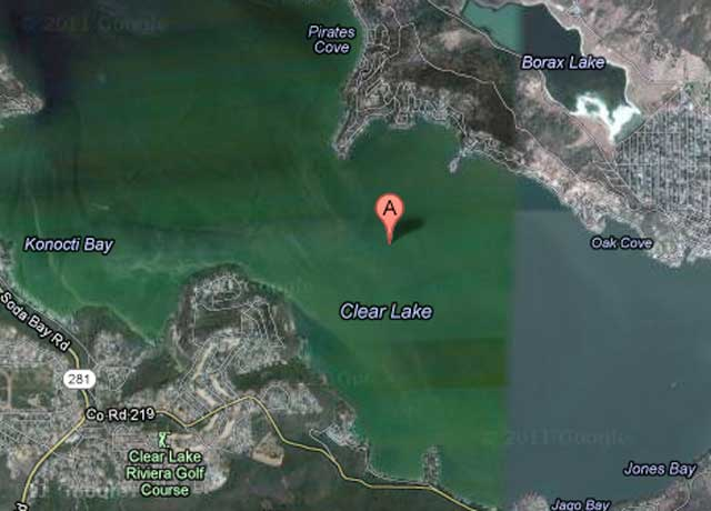 Clear Lake Earthquake 201201.24 - Google Map