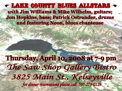Lake County Blues Allstars, April 10th, 7pm