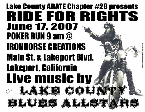 Lake County ABATE 28 - Ride for Rights poster by Mike Wilhelm