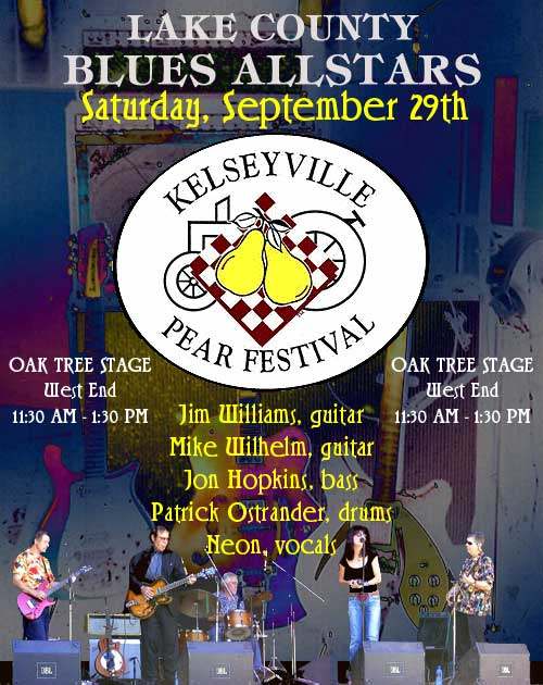 Lake County Blues Allstars will play at the Kelseyville Pear Festival
