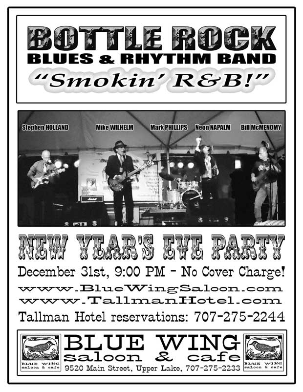 New Year's Bottle Rock Blues & Rhythm Band Poster