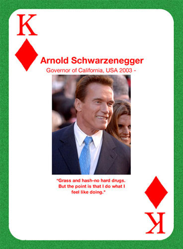 Arnold smokes pot and hash, so why not leaglize it and tax it to help with the George Bush induced, failing, economy?