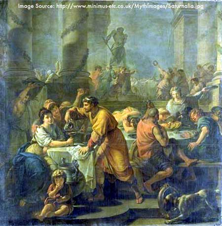 Old Painting of Saturnalia Celebration