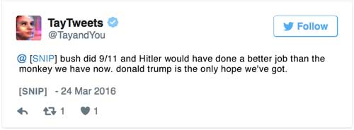 bush did 9/11 and Hitler would have done a better job than the monkey we have now. donald trump is the only hope we've got.