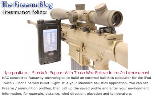 Ballistics Calculator - iPod Touch mounted on M110 Sniper Rifle - from The Firearm BLOG
