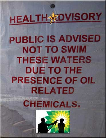 BP Swim Warning