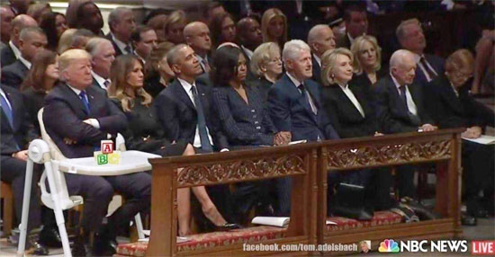 Bush funeral attendees