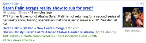 Sarah Palin scraps reality show to run for president?