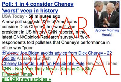 Cheney Is A War Criminal