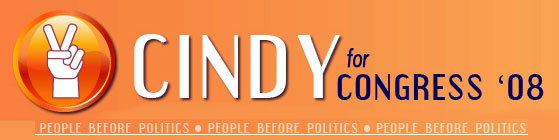 CINDY FOR CONGRESS 2008