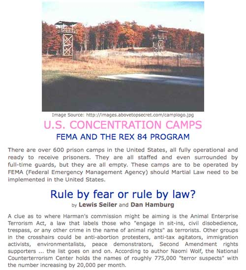 FEMA Concentration Camps