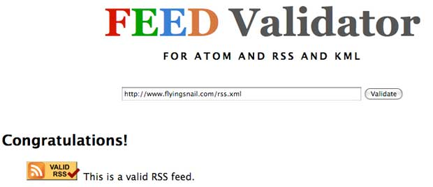 flyingsnail.com RSS Validation, August 13, 2012