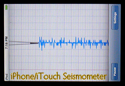 iPhone & iTouch Pod Seismometer Application