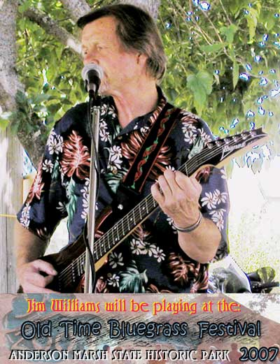Jim Williams will be playing at the Old Time Bluegrass Festival
