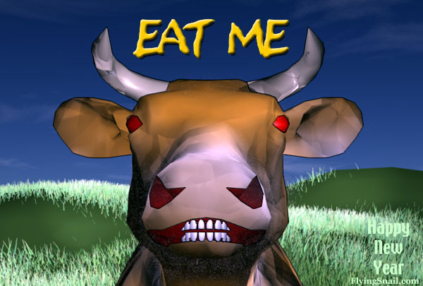 Mad Cow saying Eat Me