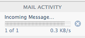 Mail Activity 0.3 KB/s