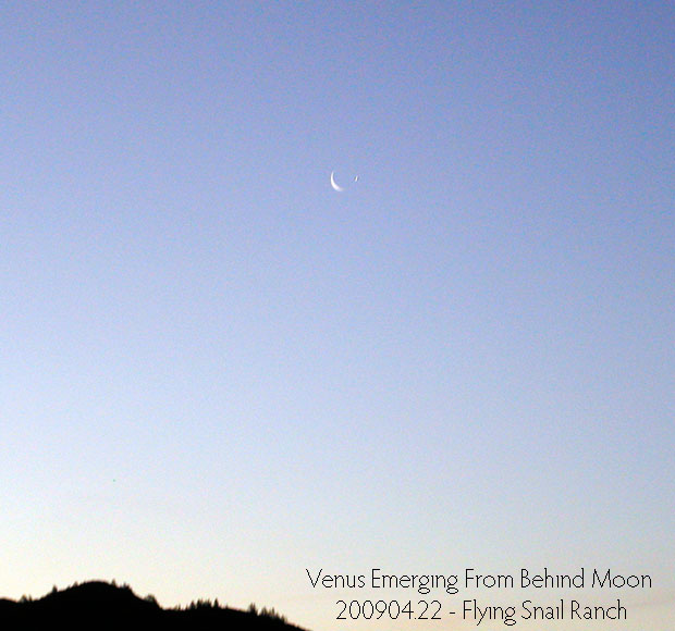 Venus Emerging From Behind Moon 200904.22
