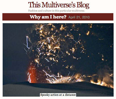 This Multiverse's Blog - Fashion and culture in this particular multiverse.