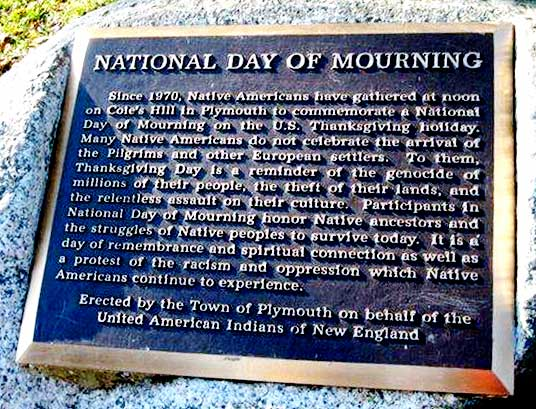 National Day of Mourning - Plymouth, Mass.
