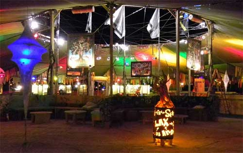 David Normal's Illuminations on display at the Center Camp Cafe at Burning Man 2010