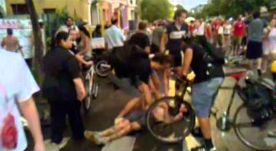 Bank Official Intentionally Tries to Kill Dozens of Cyclists