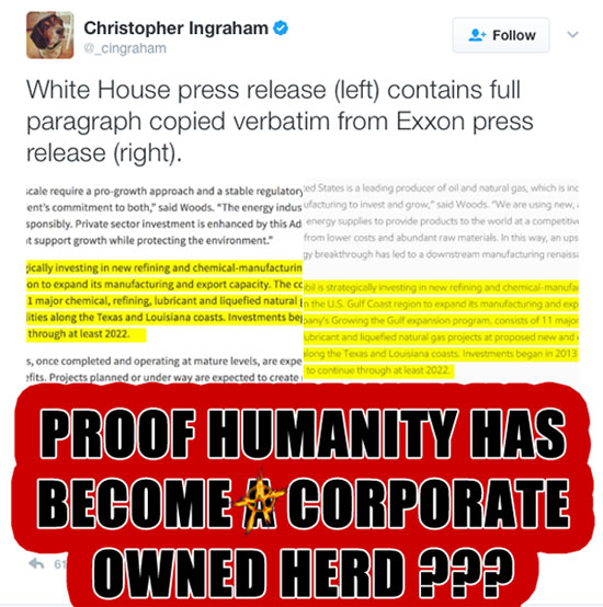 Proof Humanity Has Become A Corporate Owned Herd ???