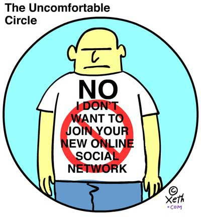The Uncomfortable Circle a cartoon by Xeth Feinberg