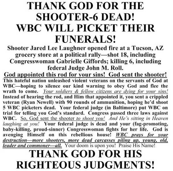 Wasteboro Baptist Church Serve As MINISTERS OF SATAN