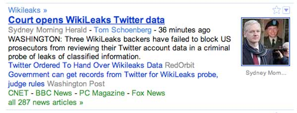 Government can get records from Twitter for WikiLeaks probe, judge rules